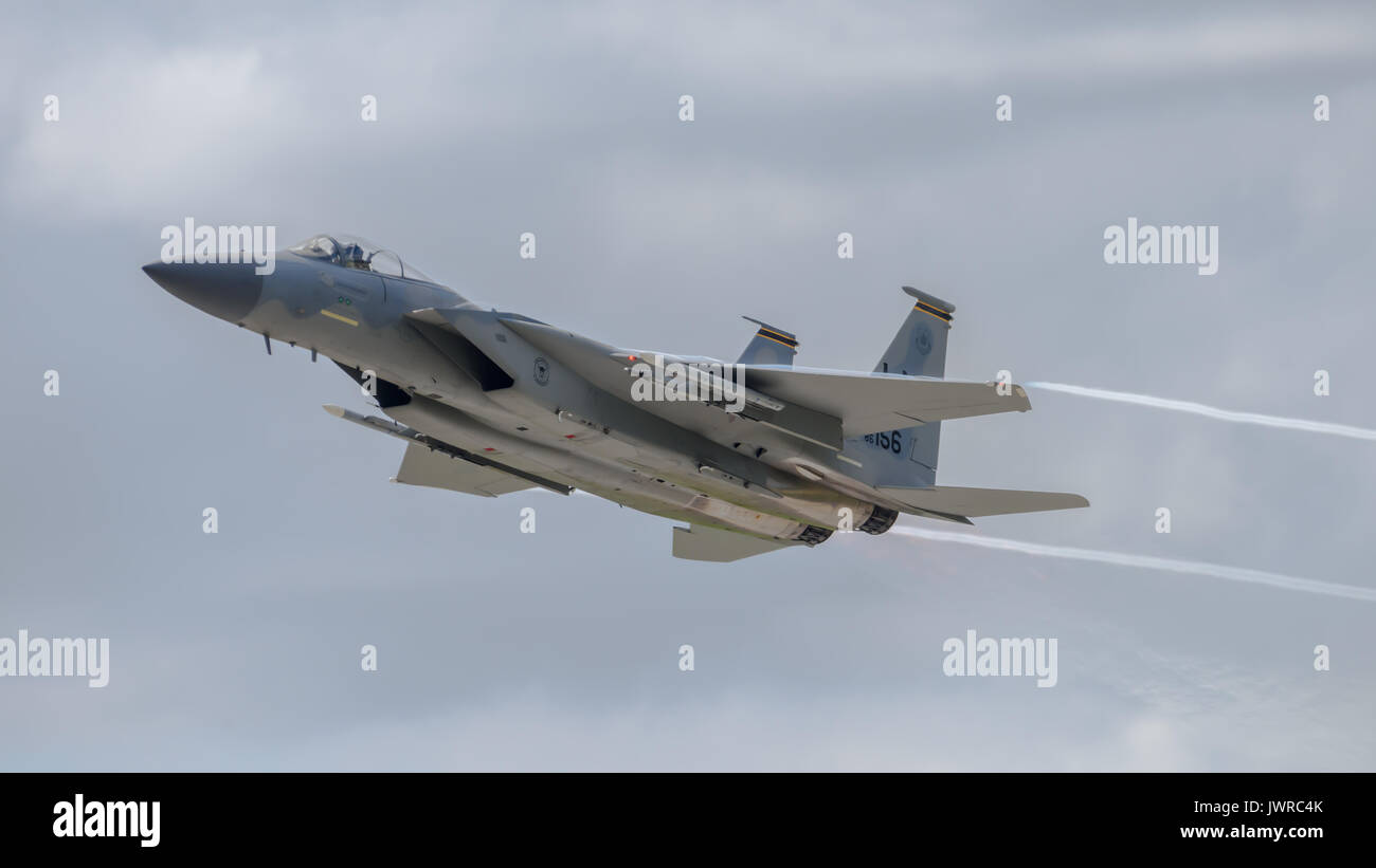 F-15 Eagle fighter Jet - Stock Image