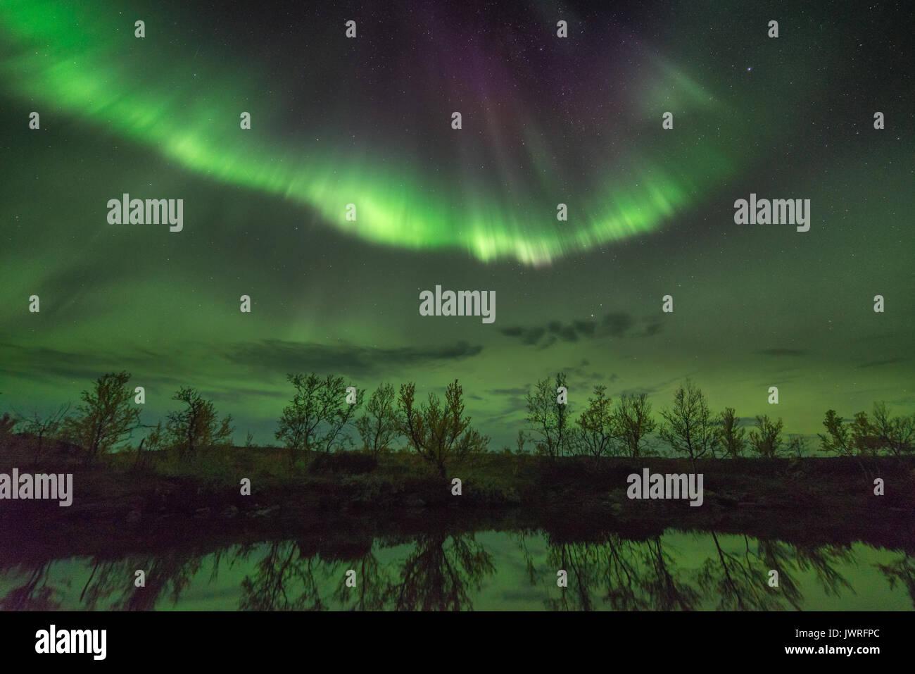 Northern lights Finnmark Norway - Stock Image