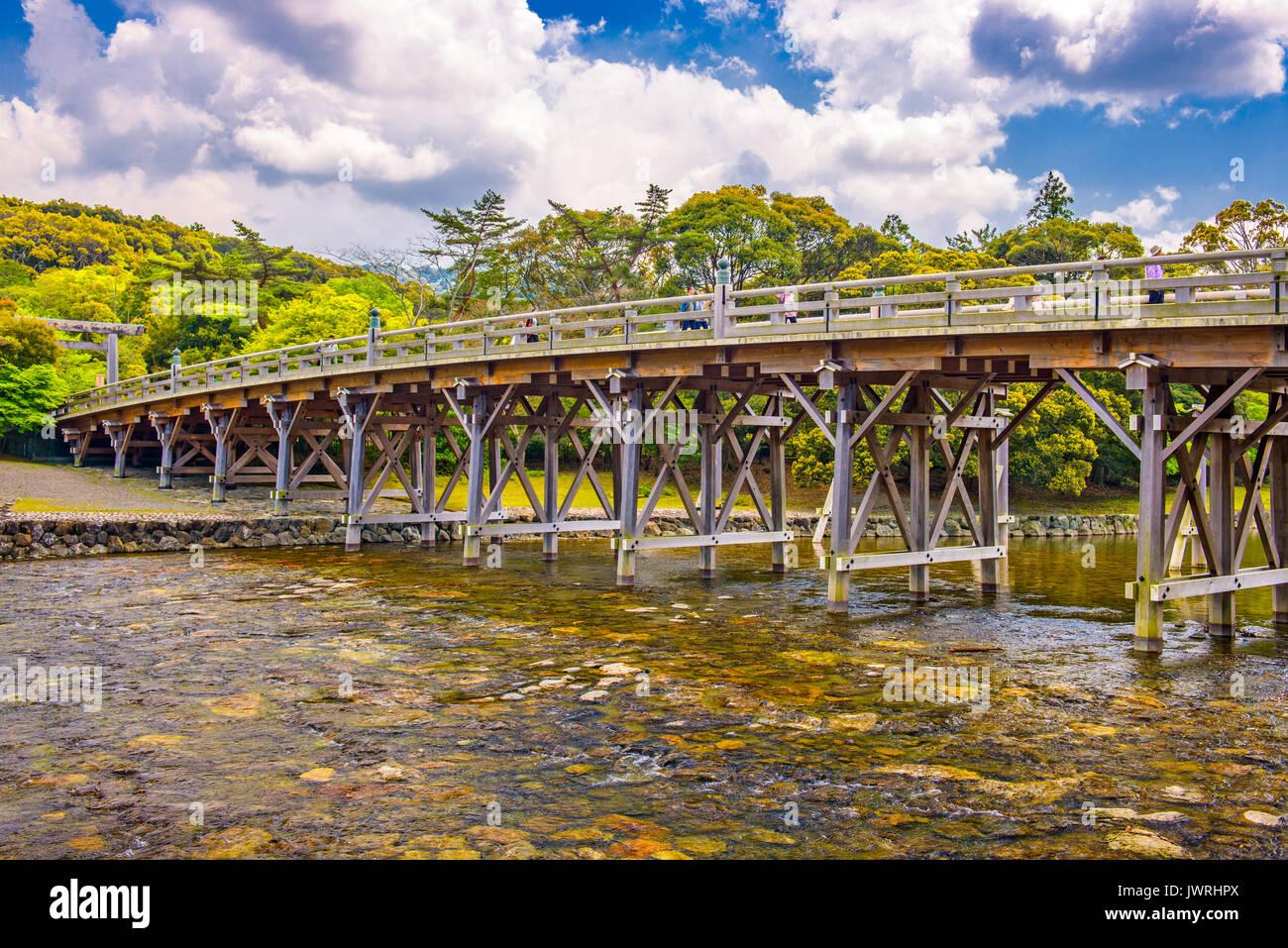Ise, Japan at Uji Bridge of Ise Grand Shrine. - Stock Image