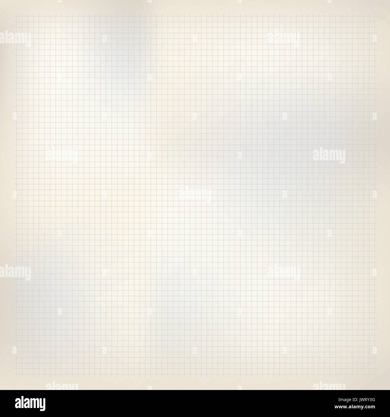 Beige paper with blue squares. Math, grid copybook sheet. Background ...