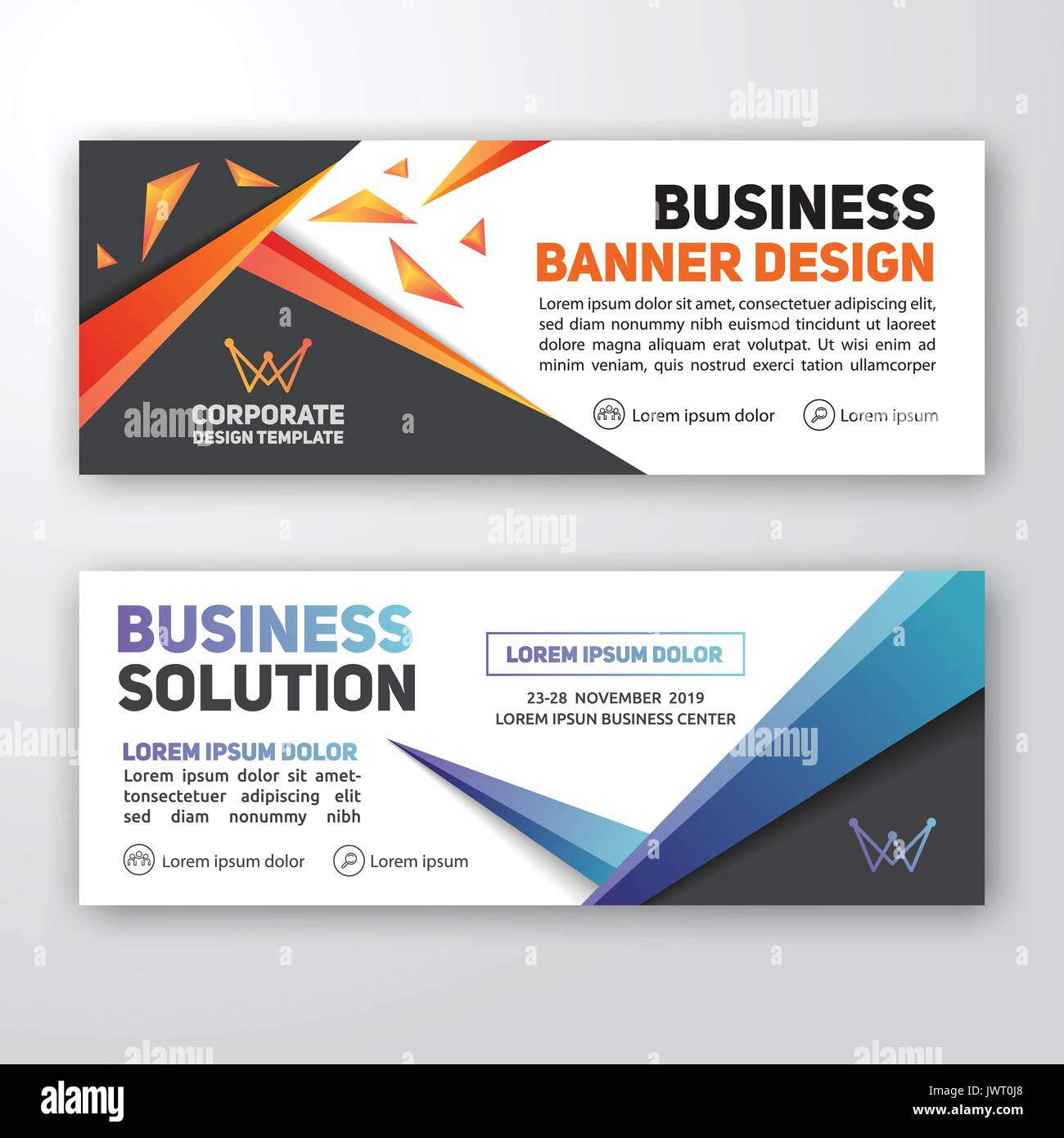 Modern corporate banner background design for letterhead document modern corporate banner background design for letterhead document header web banner vector illustration spiritdancerdesigns Image collections