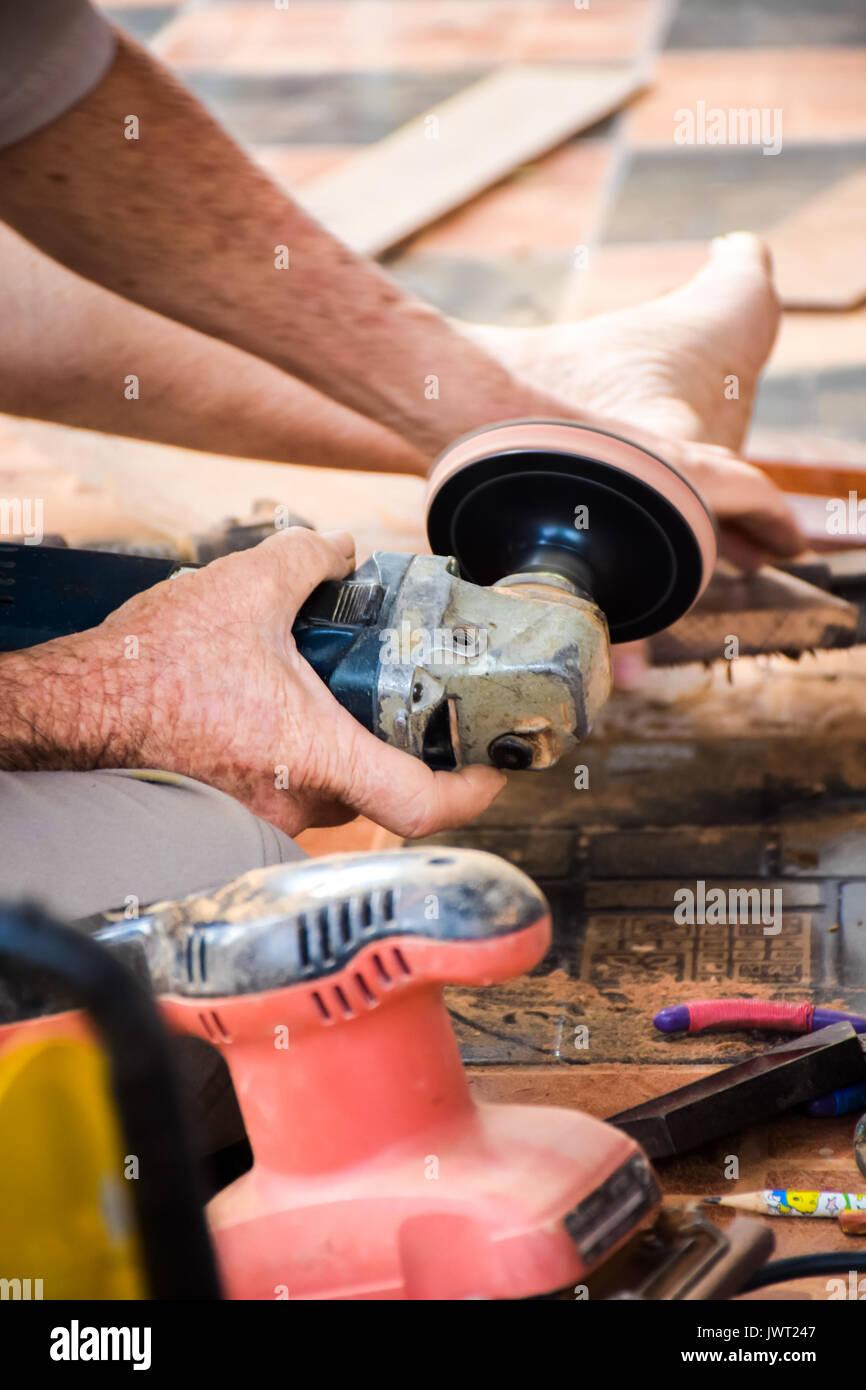 Polished wood Stock Photo
