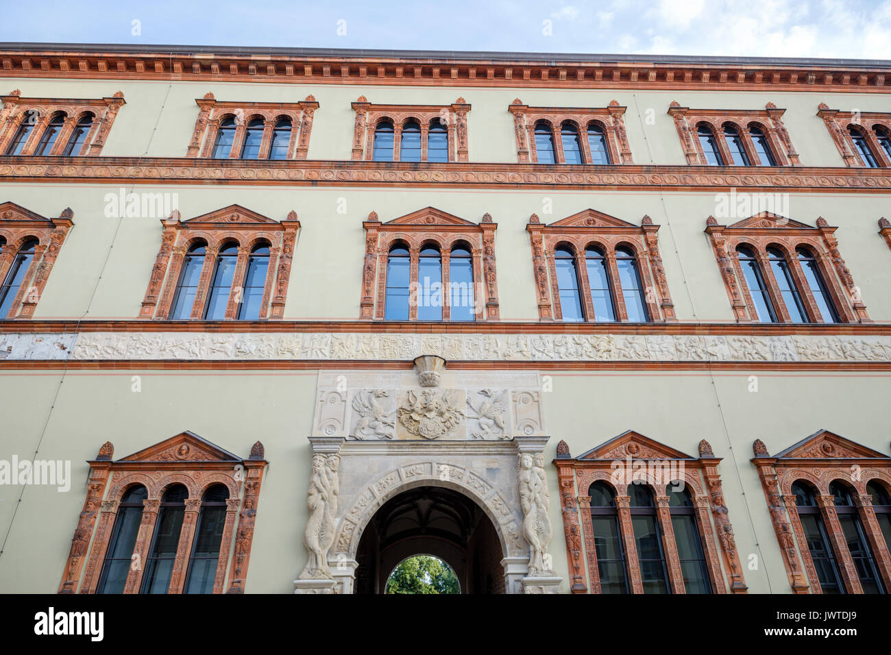 Fürstenhof, now Amtsgericht Magistrates Courts, Wismar, Mecklenburg-Vorpommern, Germany - Stock Image