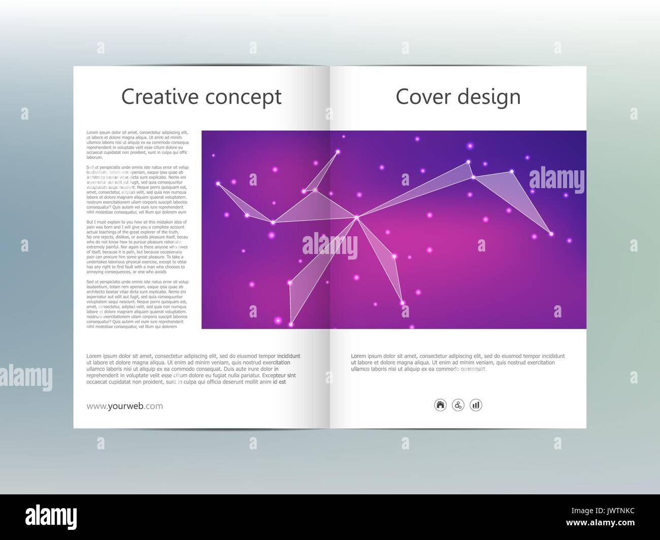 bi fold brochure template layout flyer cover annual report magazine jwtnkcjpg