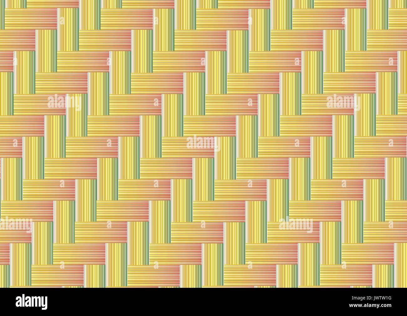 Bamboo weave seamless background - Stock Vector