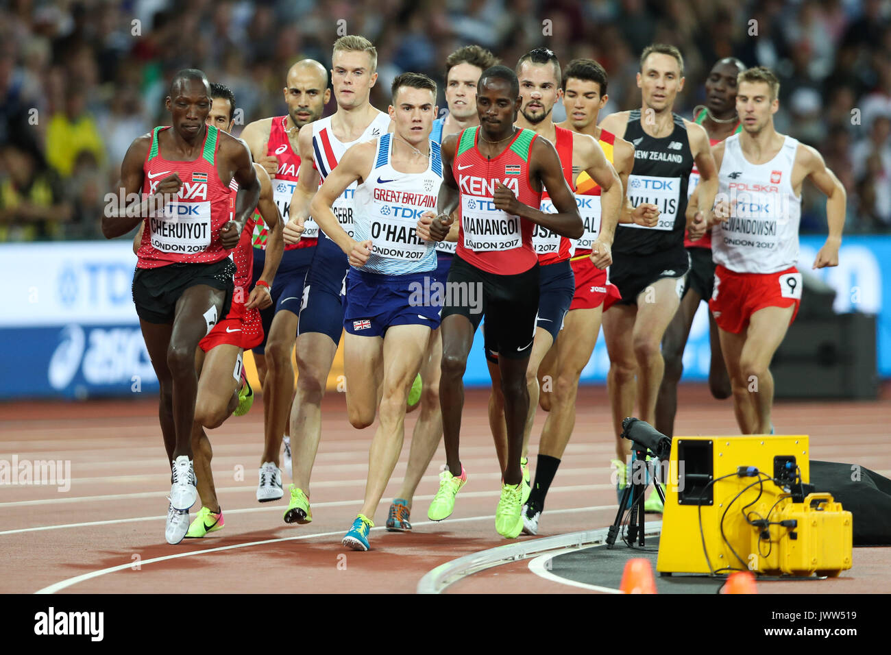 London, UK. 13th Aug, 2017.  Chris O'Hare, Great Britain the men's 1500m final on day ten of the IAAF London 2017 Stock Photo