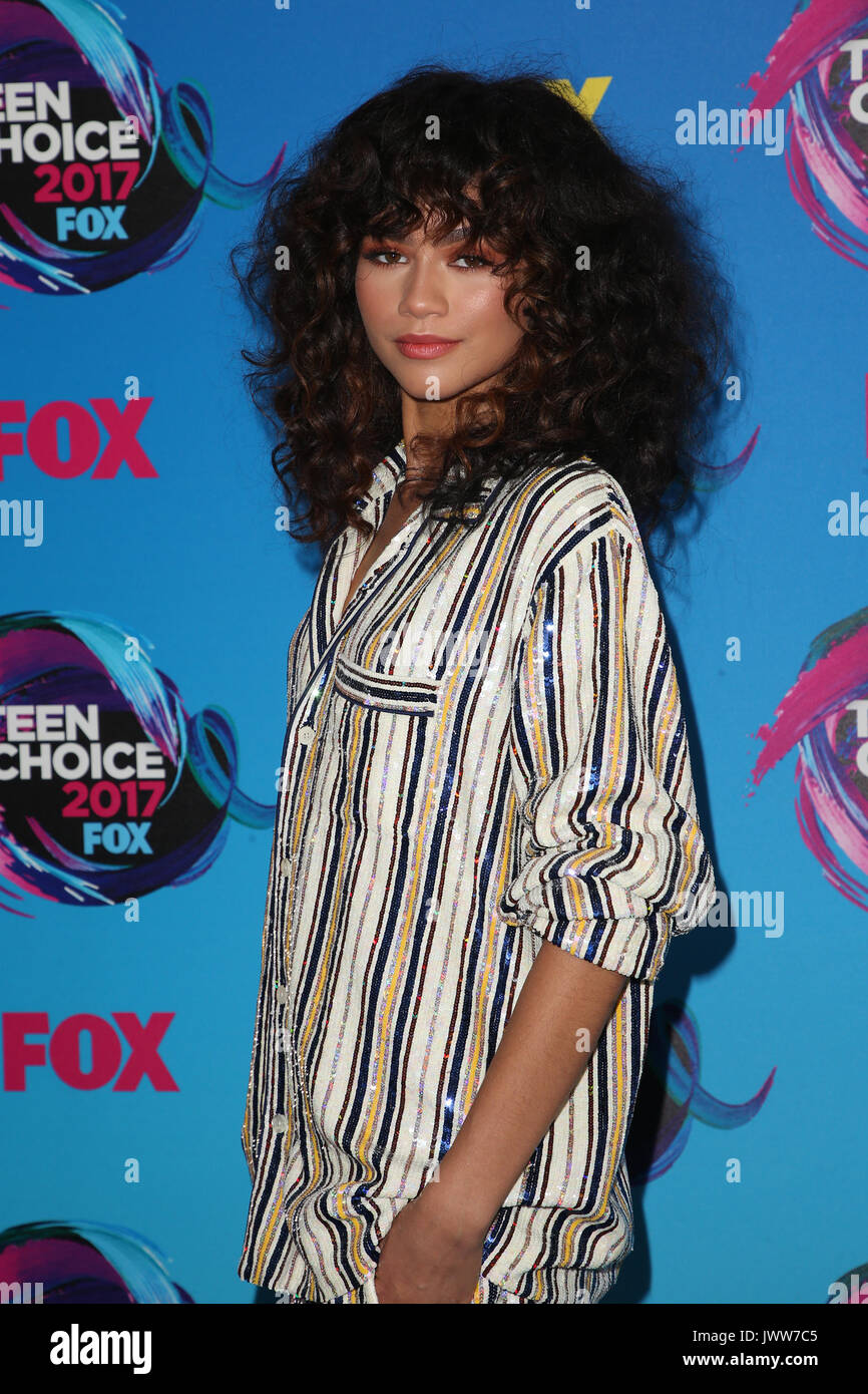 Los Angeles, California, USA. 13th Aug, 2017. Zendaya at the Teen Choice Awards 2017 at Galen Center on August 13, Stock Photo
