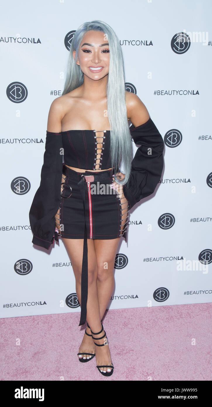 Los Angeles,USA. 13th Aug,2017. Nikita Dragun arrives 5th Annual Beautycon Festival Los Angeles Los Angeles Convention Stock Photo