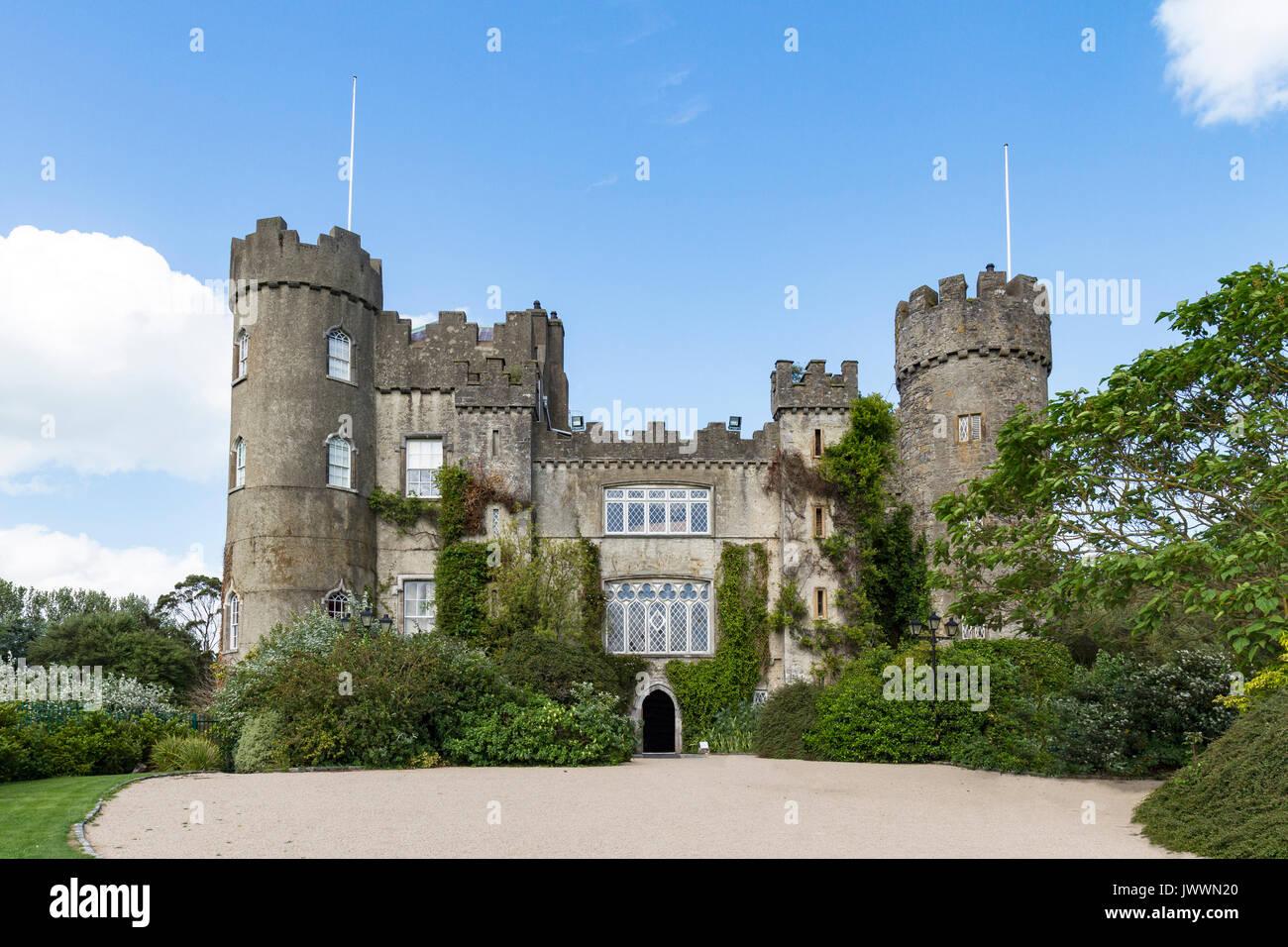 Front entrance of Malahide Castle - Stock Image