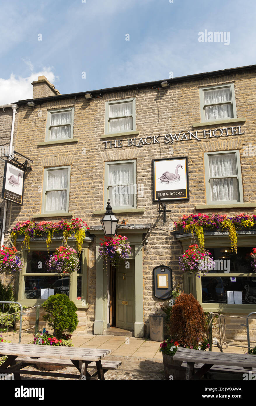 The Black Swan Hotel, Leyburn, Wensleydale, North Yorkshire, England, UK - Stock Image