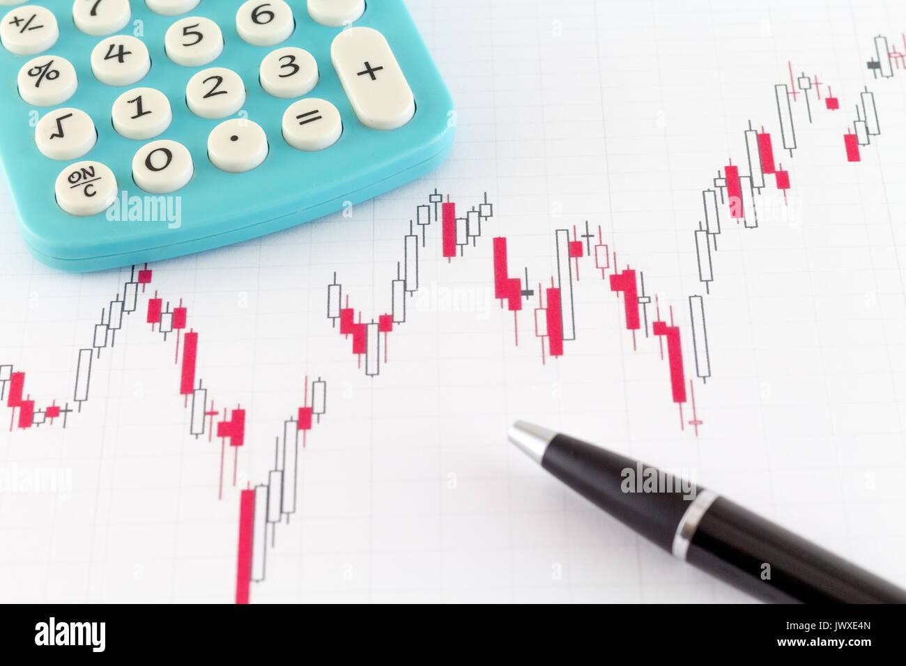Financial Stock Chart Stock Market Stock Photo