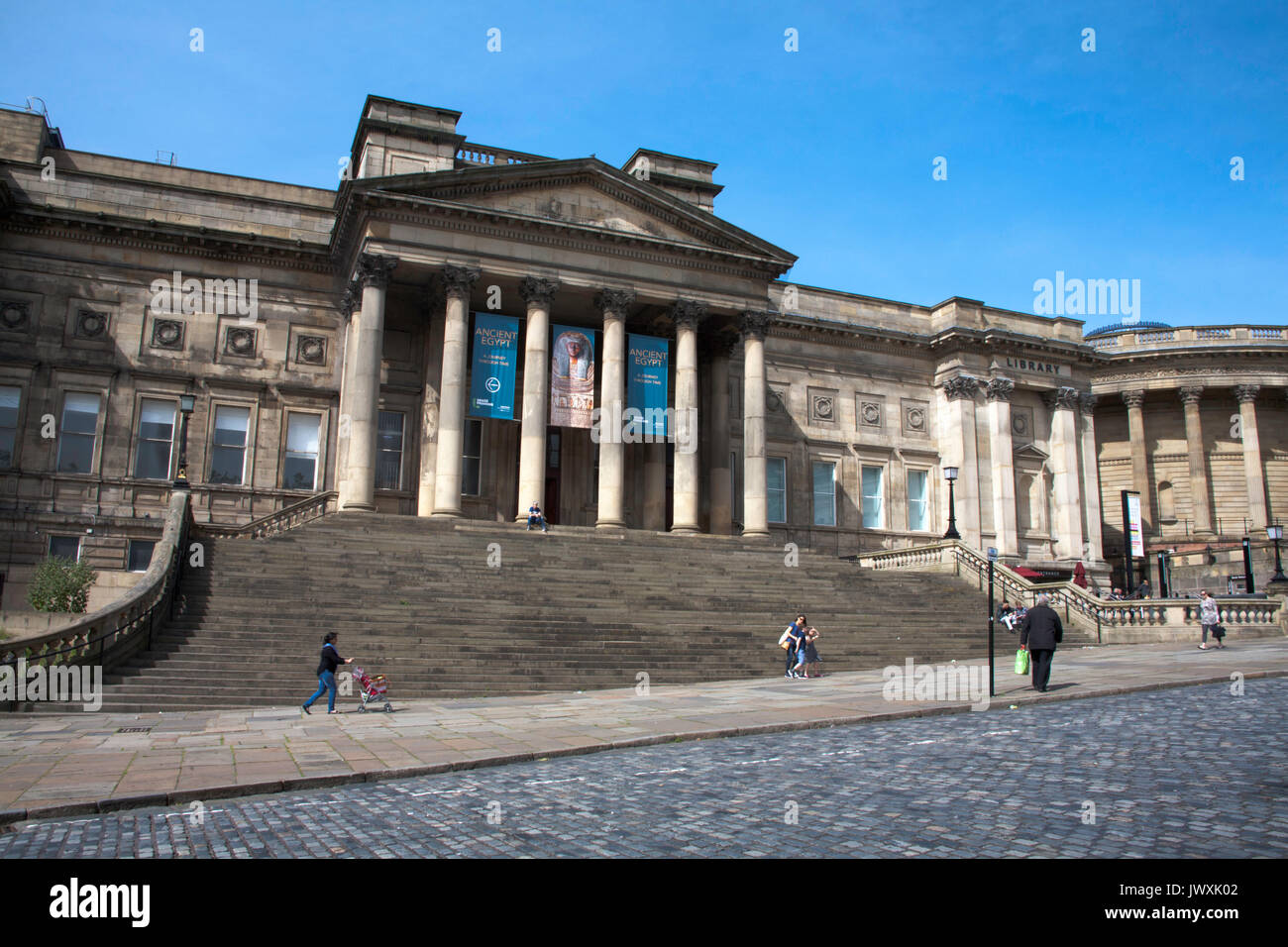 The World Museum and Liverpool Central Library William Brown St Liverpool Merseyside England Stock Photo