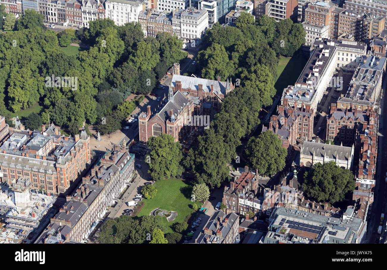aerial view of Lincoln's Inn Field, London WC2A, UK - Stock Image