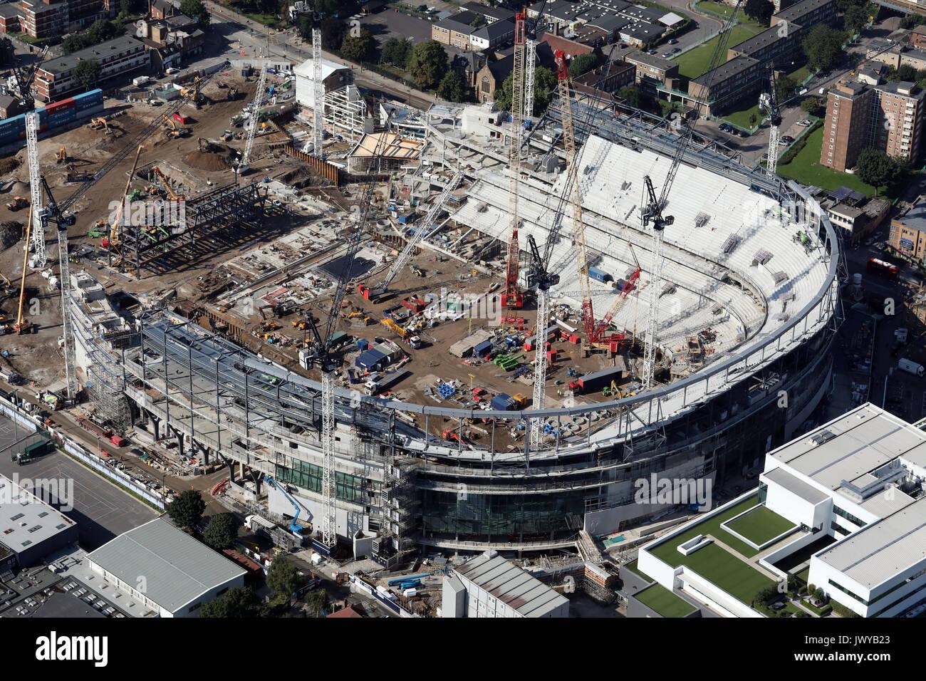 aerial view of Tottenham Hotspur White Hart Lane new stadium under construction, London, UK - Stock Image