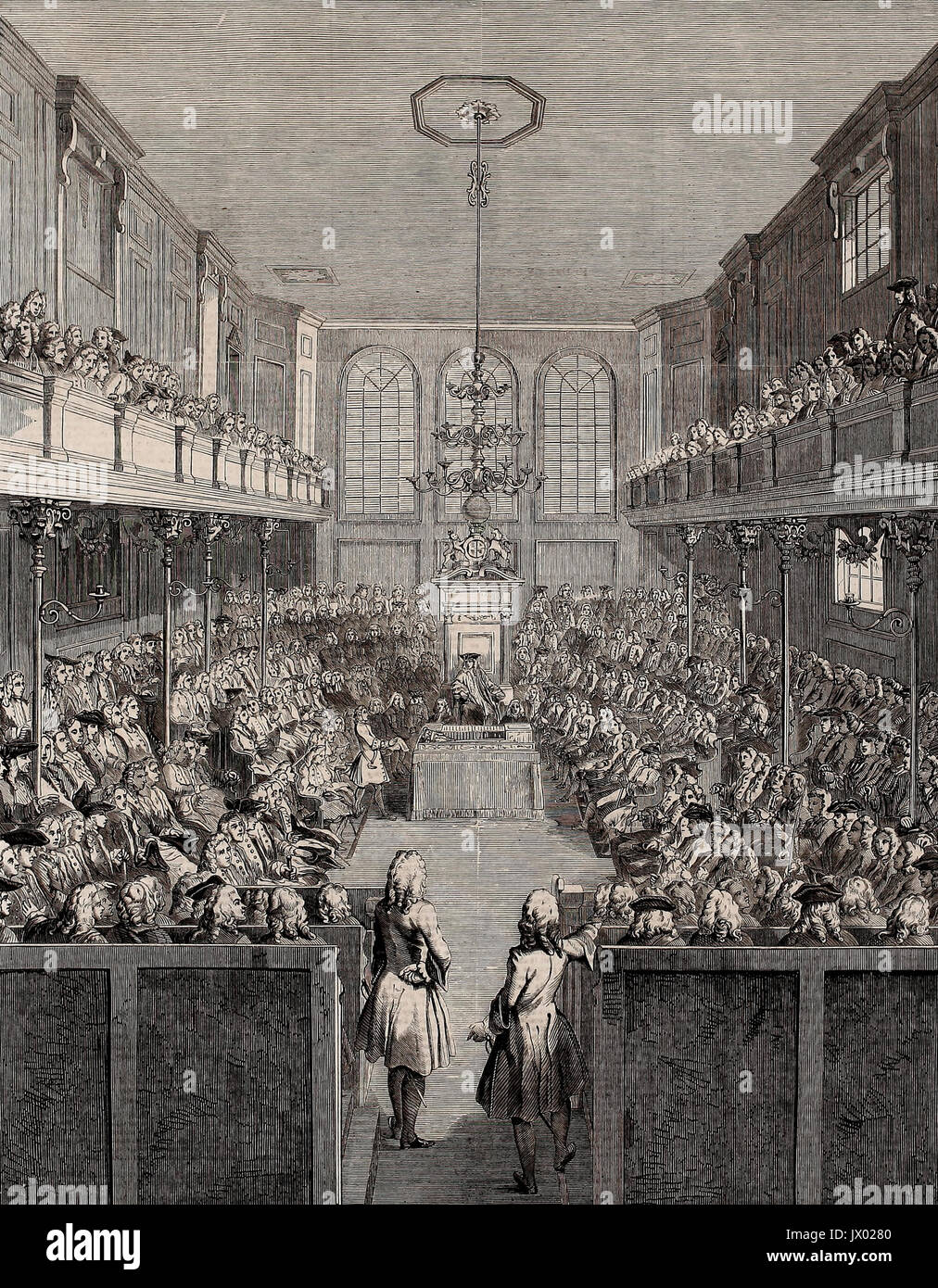 The House of Commons in Session, 1741-42 - Stock Image