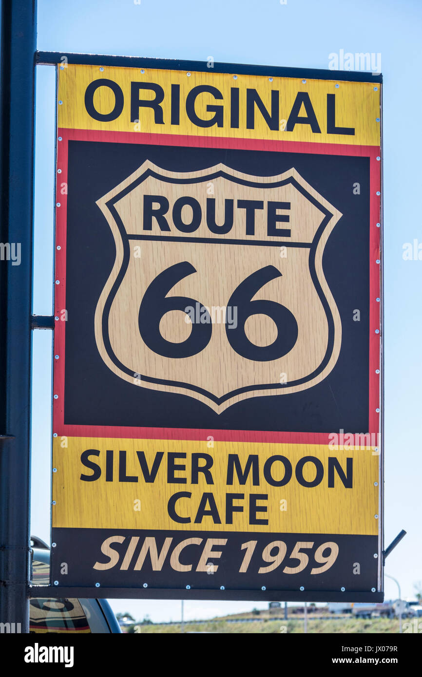 Interstate 40 in New Mexico with famous Route 66 tourism - Stock Image