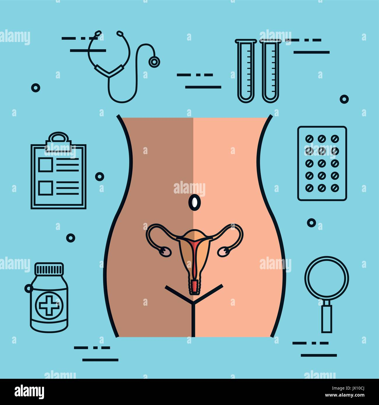 Illustration Of Anatomy Of Cervix Stock Photos & Illustration Of ...