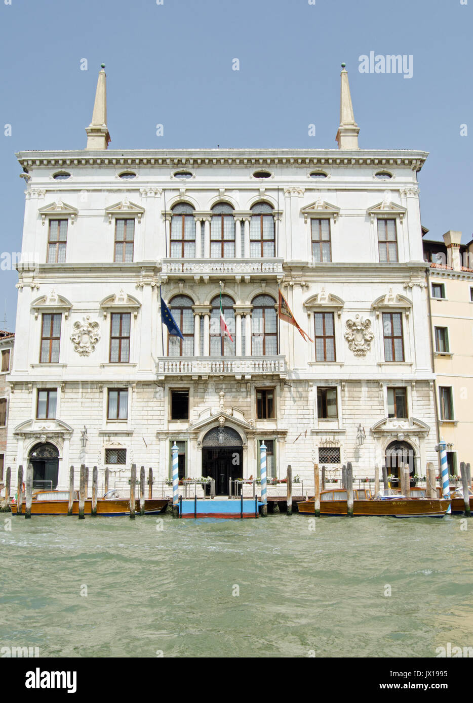 The magnificent Palazzo Balbi overlooking the Grand Canal in Venice.  Now home to the President and local government of the Veneto region of Italy. - Stock Image