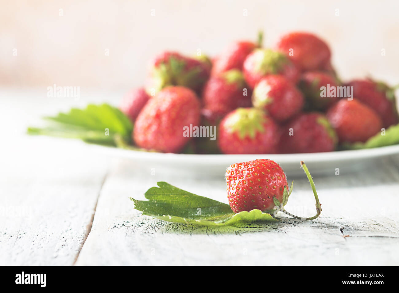 Heap of fresh strawberries - Stock Image
