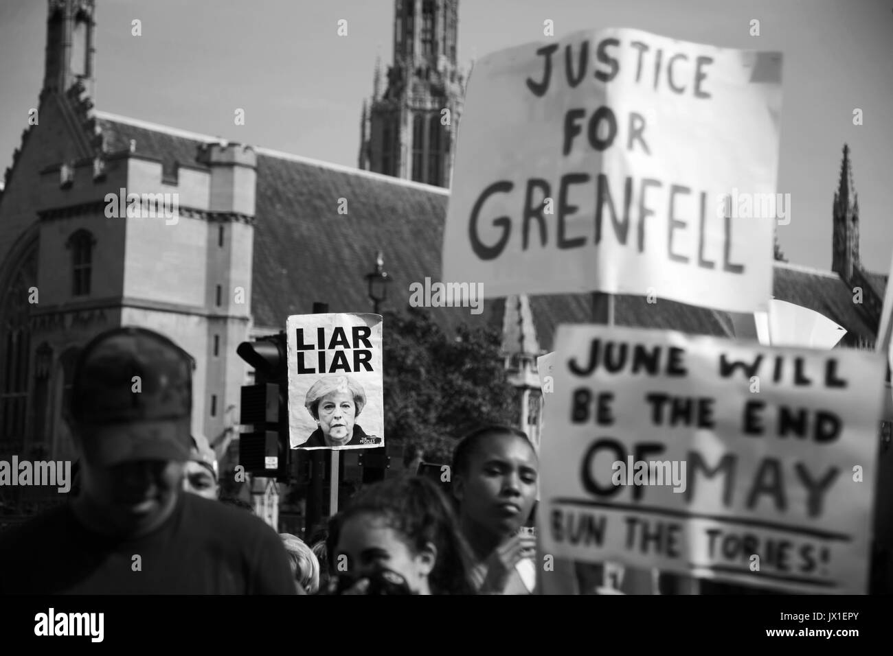 The Day of Rage protest organised by Movement for Justice  went from Shepherd's Bush to Downing Street and Parliament Square June 21st 2017, London, U - Stock Image