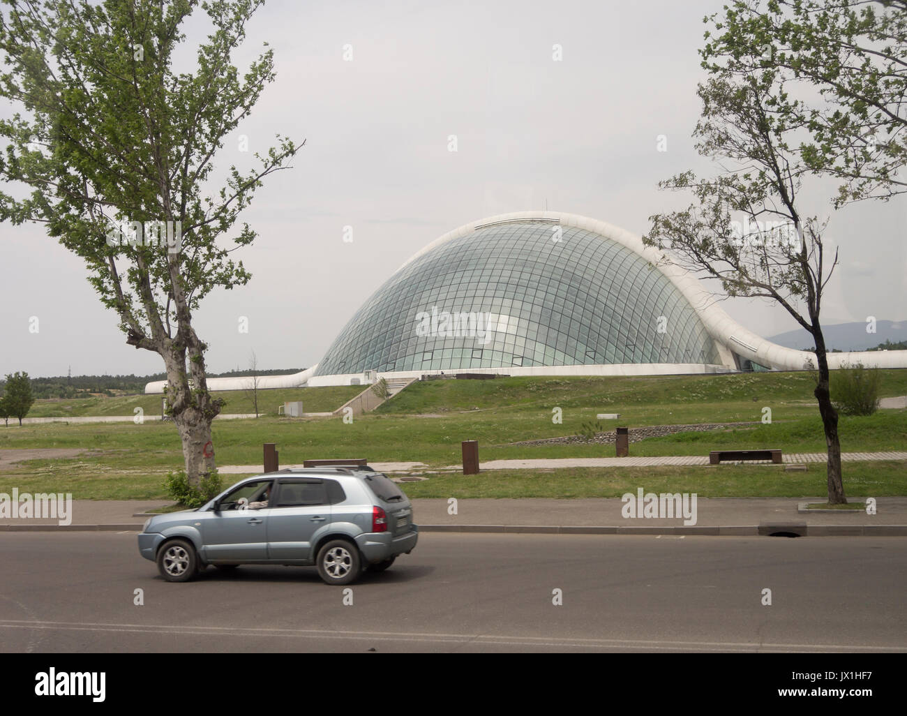 The Parliament of Georgia in the second largest Georgian city Kutaisi, a glass dome for transparency, relocated to spread power around the country - Stock Image