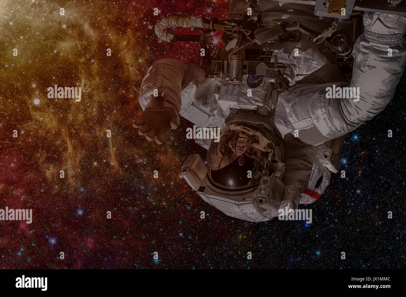 NASA space exploration astronaut. Elements of this image furnished by NASA. - Stock Image
