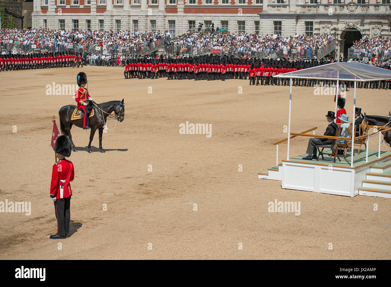 17th June 2017. Horse Guards Parade, London, UK. Trooping the Colour 2017, The Queen's Birthday parade - Stock Image
