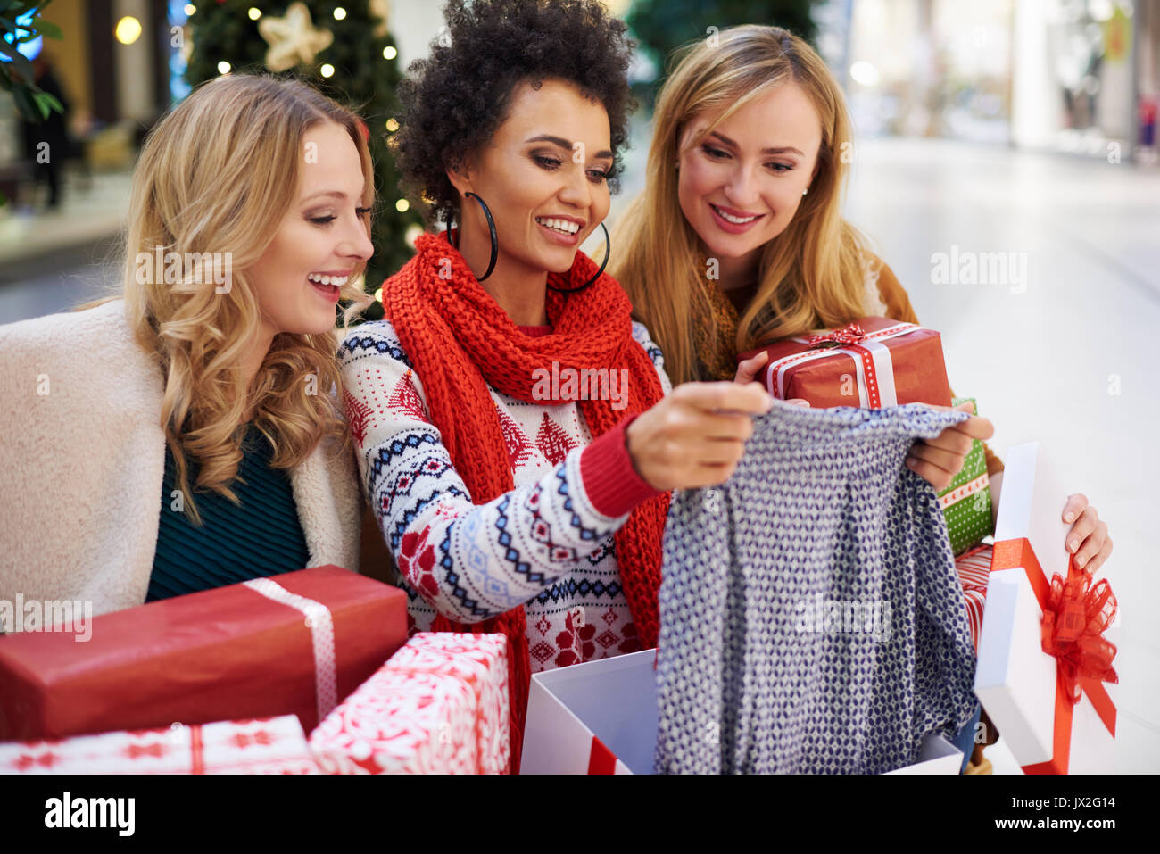 Everything has been bought for Christmas gifts - Stock Image