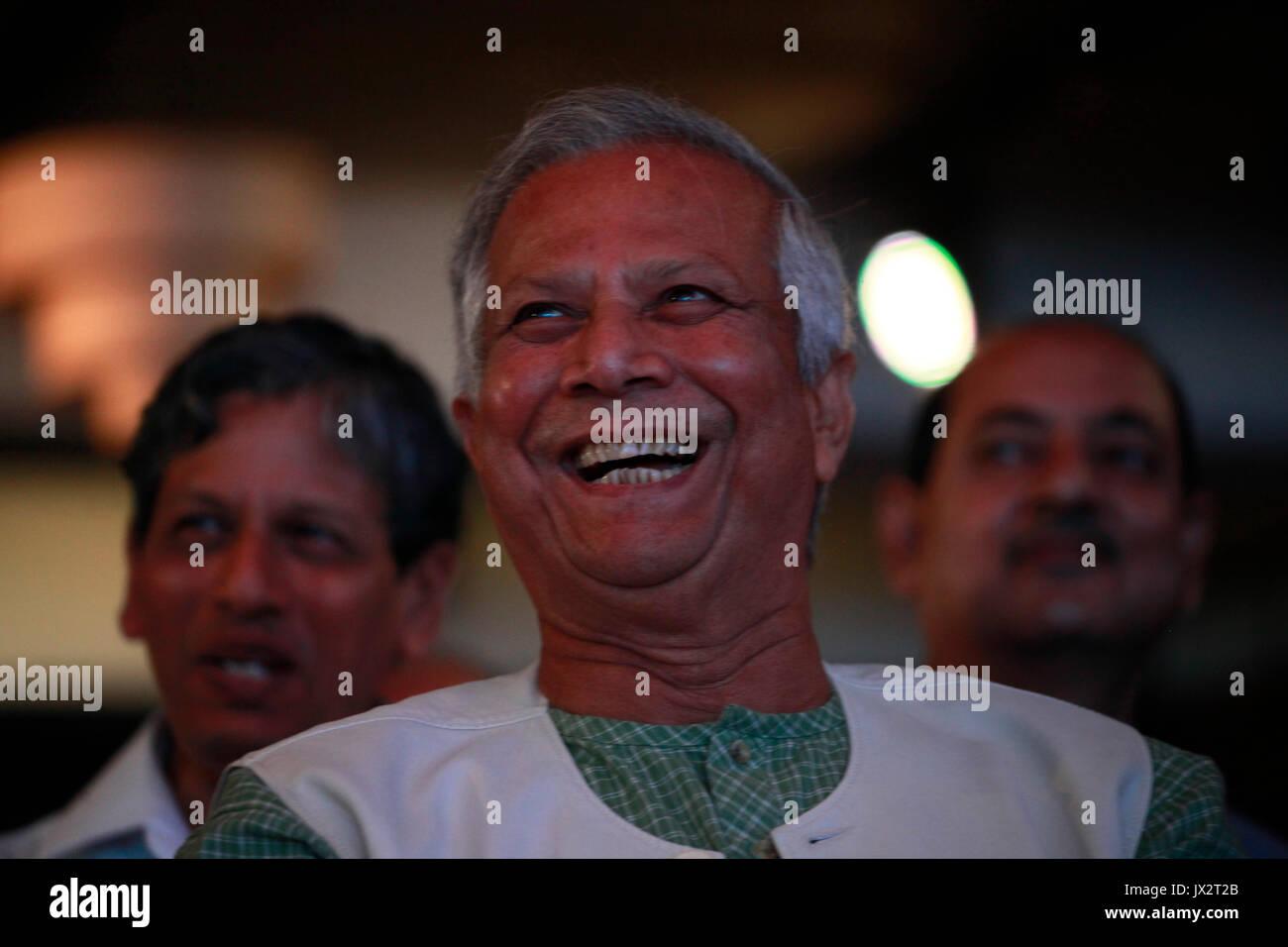 Portrait of Nobel Prize Laureate Professor Muhammad Yunus, who won the Nobel Peace Prize in 2006, on June 28, 2014 Stock Photo