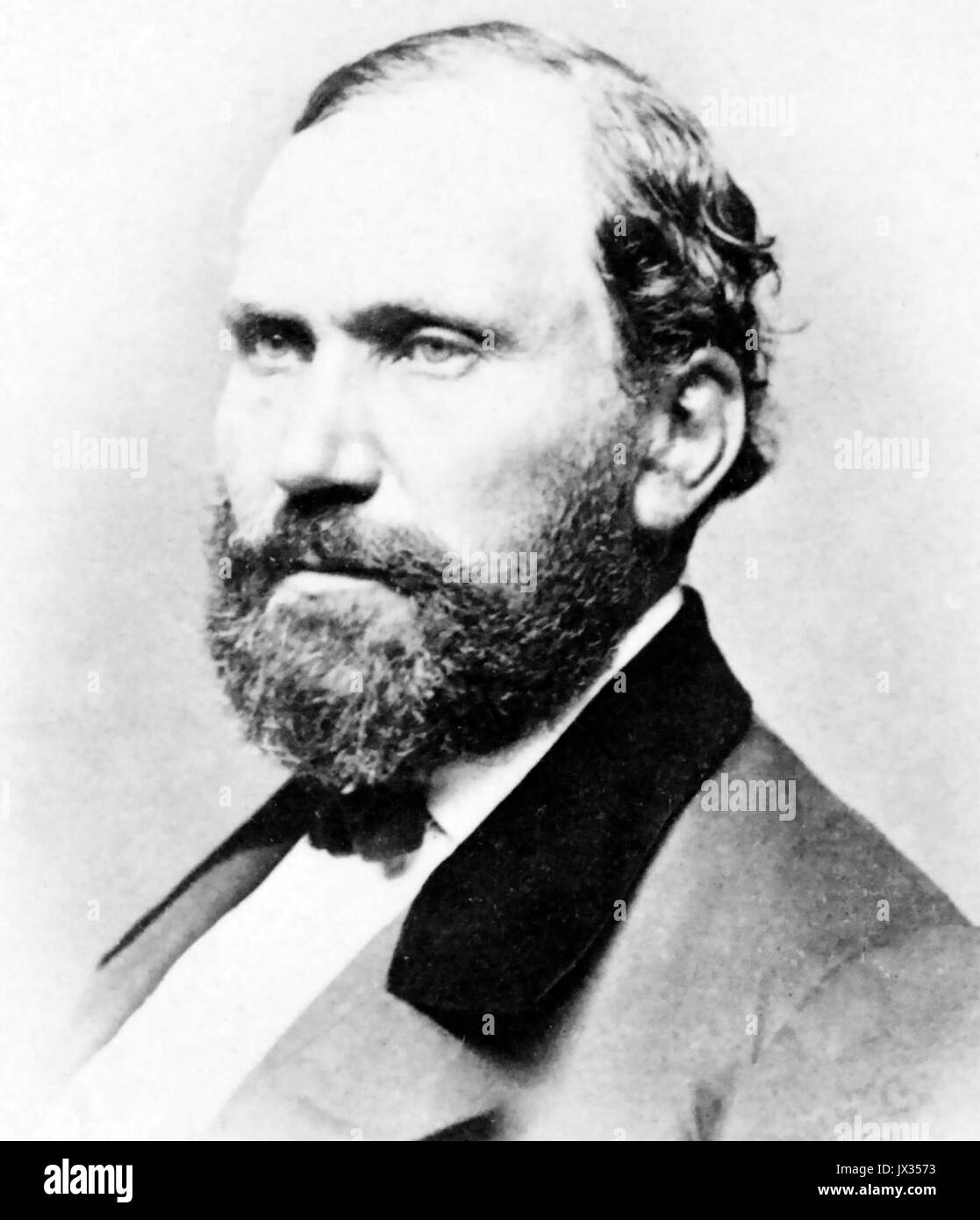 ALLAN PINKERTON (1819-1884)  Scottish American detective and Union spy about 1860 - Stock Image