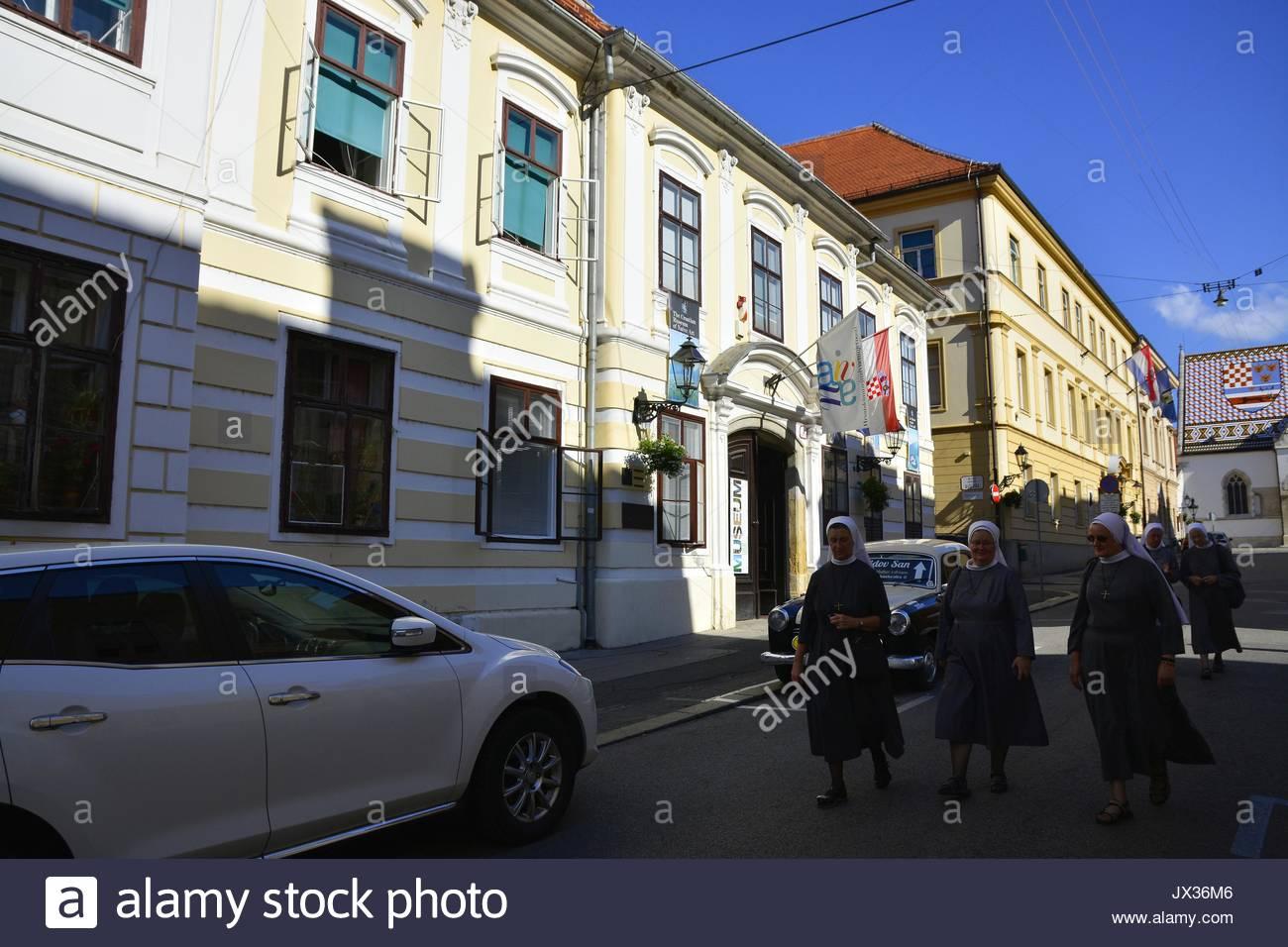 Zagreb,Croatia. The Croatian Museum of Naïve Art - Stock Image