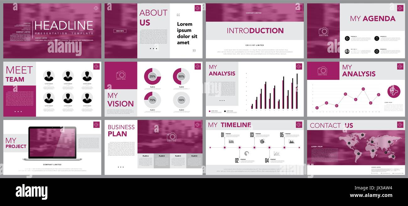 Design element of infographics for presentation templates.Use in business presentation ,annual report, book cover design template. Brochure, layout, K - Stock Image