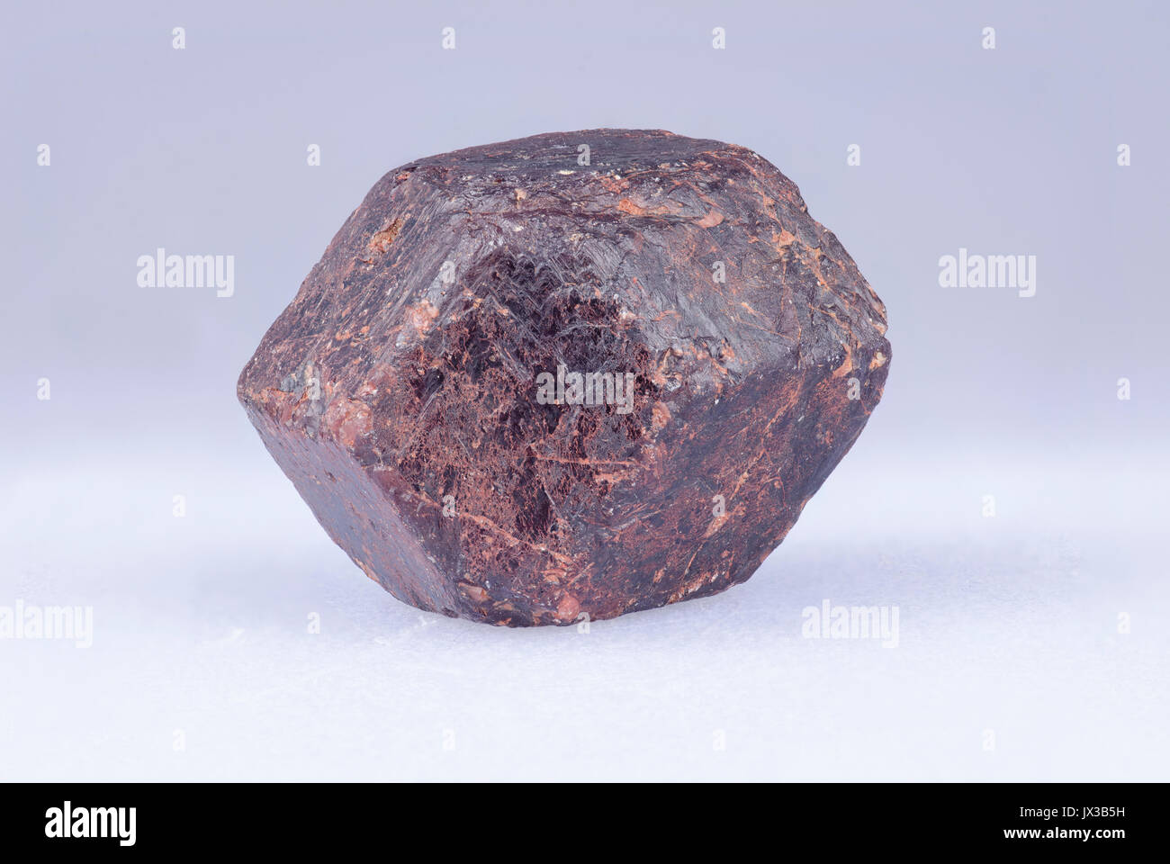 Garnet crystal from Mt Riddick, Northern territory, Australia Stock Photo