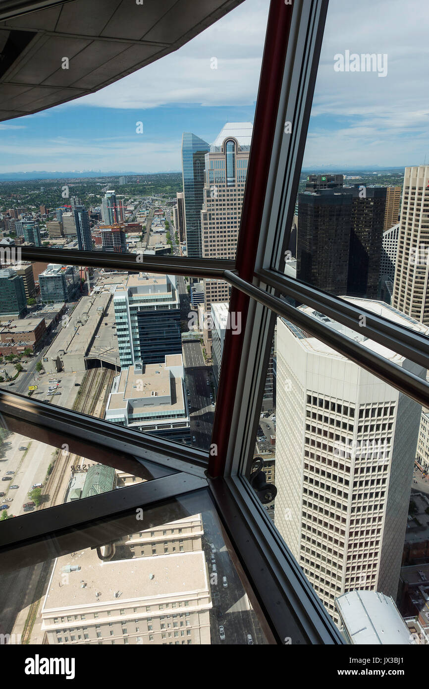The View From The Viewing Gallery With Glass Floor Of Downtown