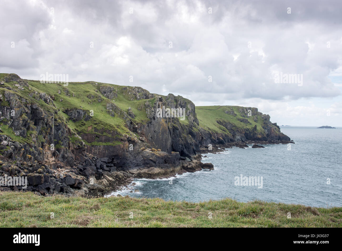 Pentire Point, North Cornwall, UK - Stock Image