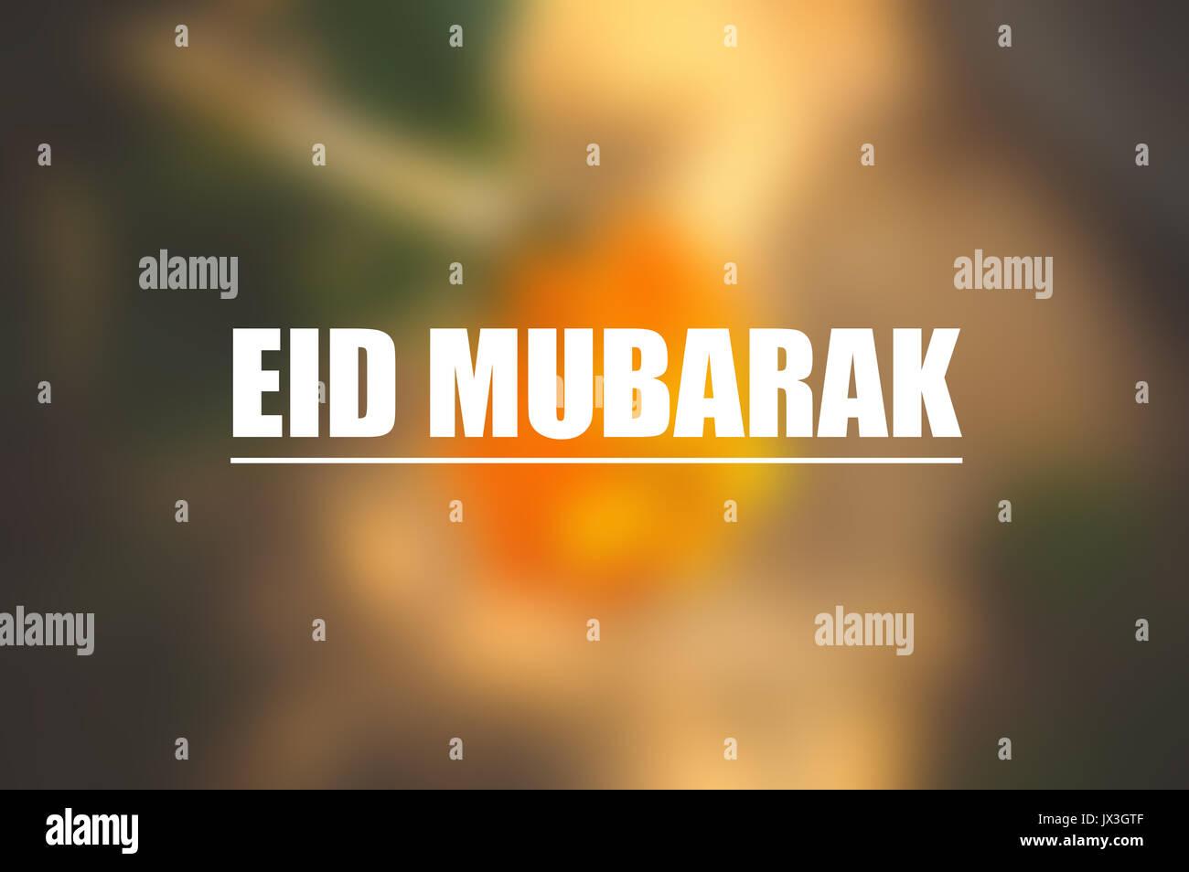 Eid mubarak stock photos eid mubarak stock images alamy eid mubarak card with blurring nature background stock image m4hsunfo