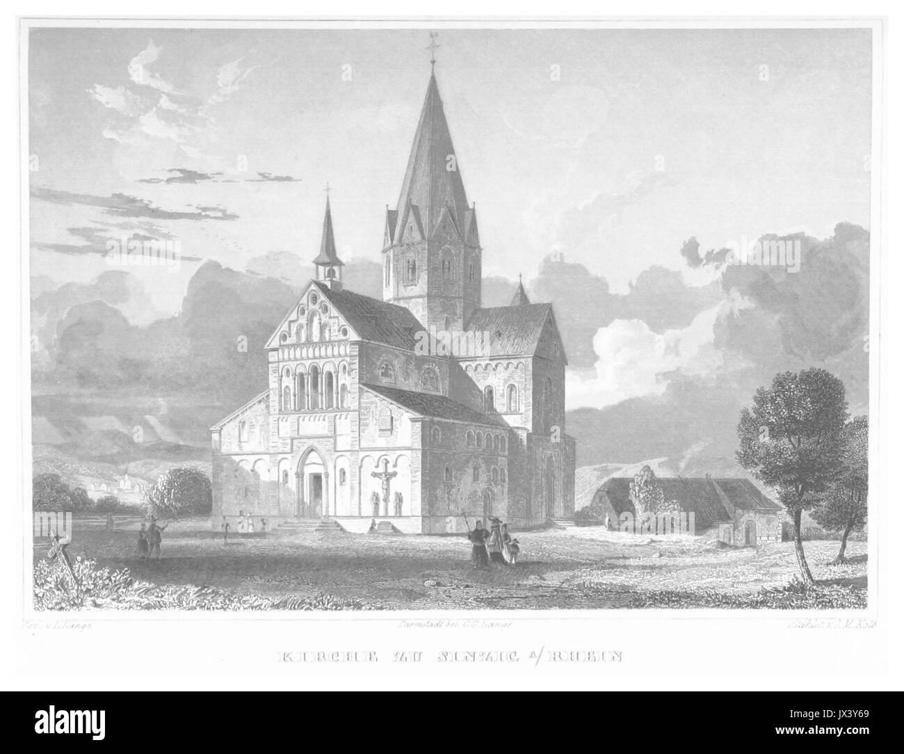 POPPEL(1852) p661 KIRCHE ZU SINZIG AM RHEIN - Stock Image