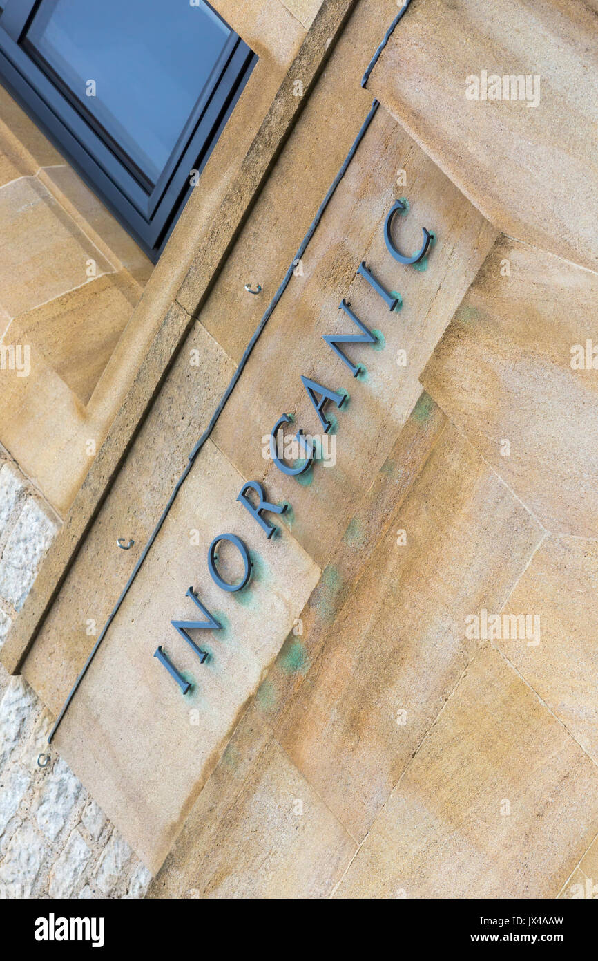 Inorganic - Inorganic Chemistry Laboratory ICL, a section of the Department of Chemistry, at the University of Oxford, South Parks Road, at Oxford - Stock Image