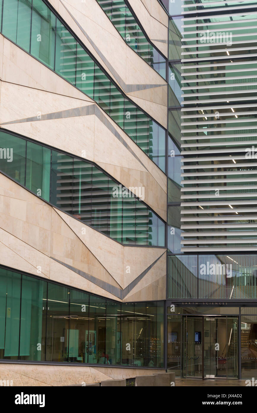 Department of Earth Sciences at the University of Oxford, South Parks Road, at Oxford - modern glass building - Stock Image