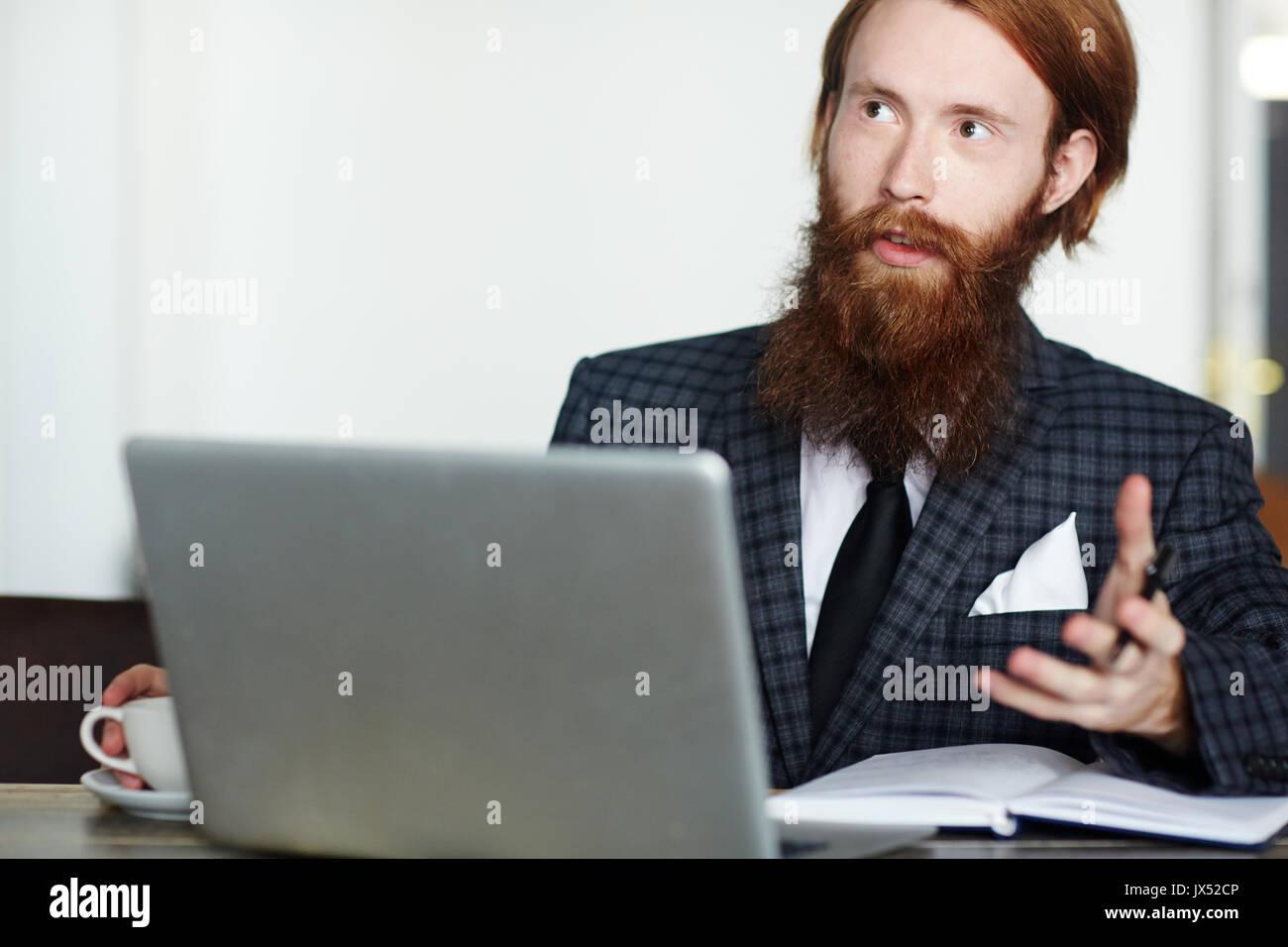 Online consultation - Stock Image