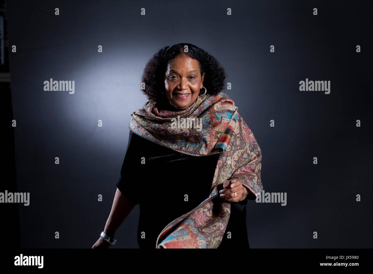 Edinburgh, UK. 14th August 2017. Lorna Goodison, the Jamaican poet, appearing at the Edinburgh International Book Stock Photo