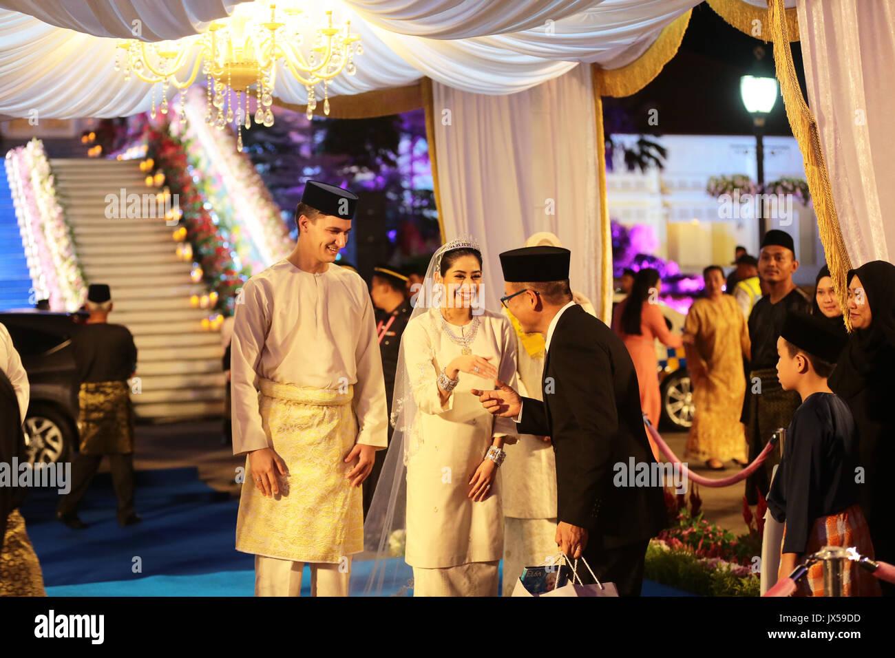 Johor bahru malaysia 14th aug 2017 handout marriage of johor bahru malaysia 14th aug 2017 handout marriage of princess tunku tun aminah sultan ibrahimjewelery and dutch born dennis muhammad abdullah junglespirit Choice Image