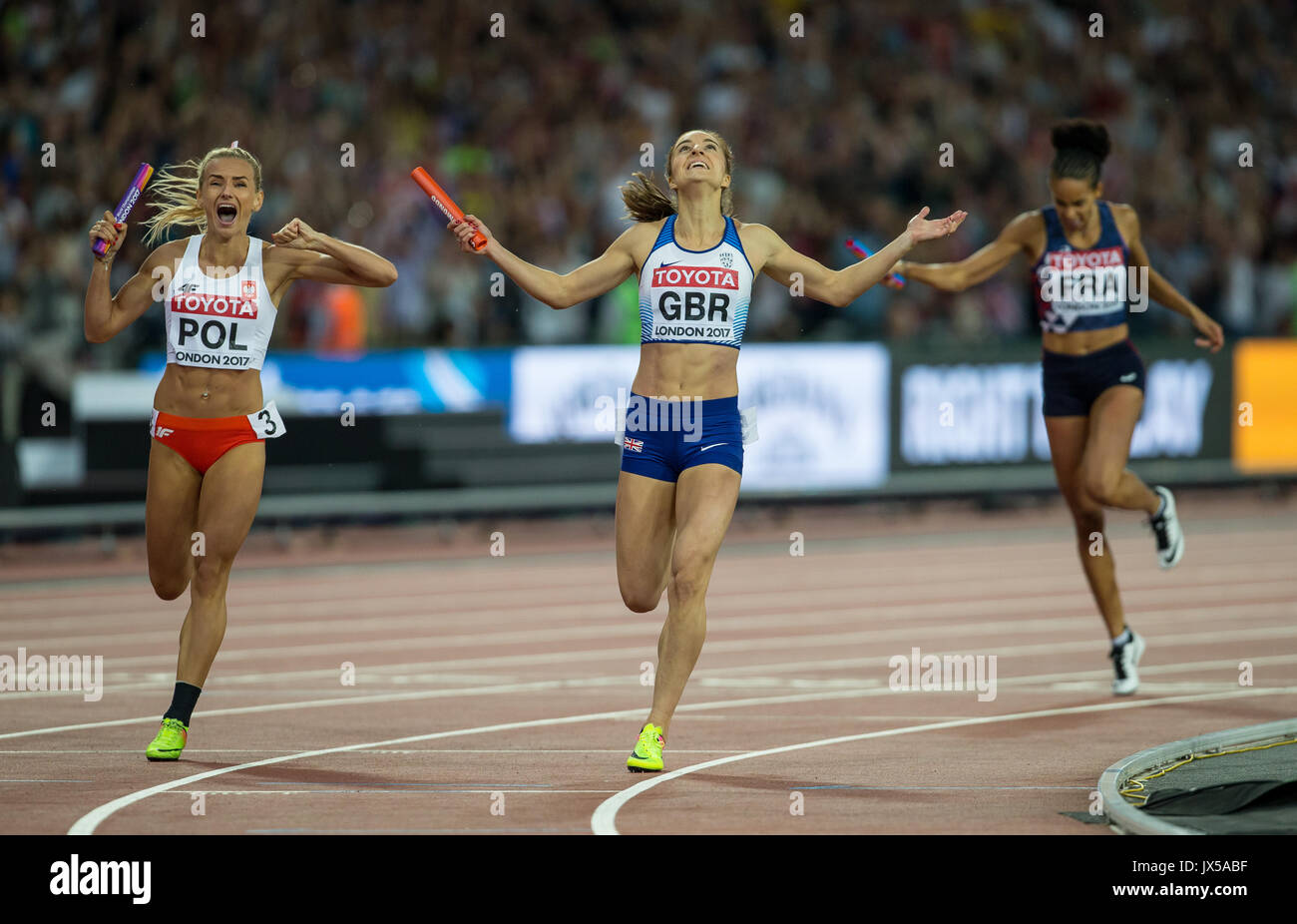 London, UK. 13th Aug, 2017. during the Final Day of the IAAF World Athletics Championships (Day 10) at the Olympic Stock Photo