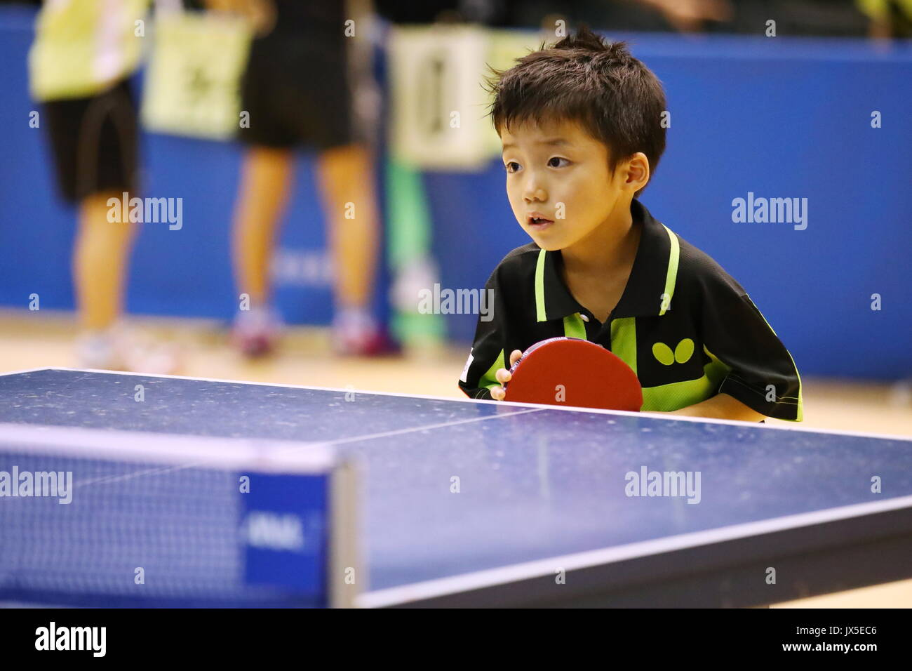 Toa Matsushirta. AUGUST 14, 2017 - Table Tennis :The 35th National Hoops Table Tennis Competition Women's Singles at Tokyo Metropolitan Gymnasium, Tokyo, Japan. Credit: Sho Tamura/AFLO/Alamy Live News - Stock Image