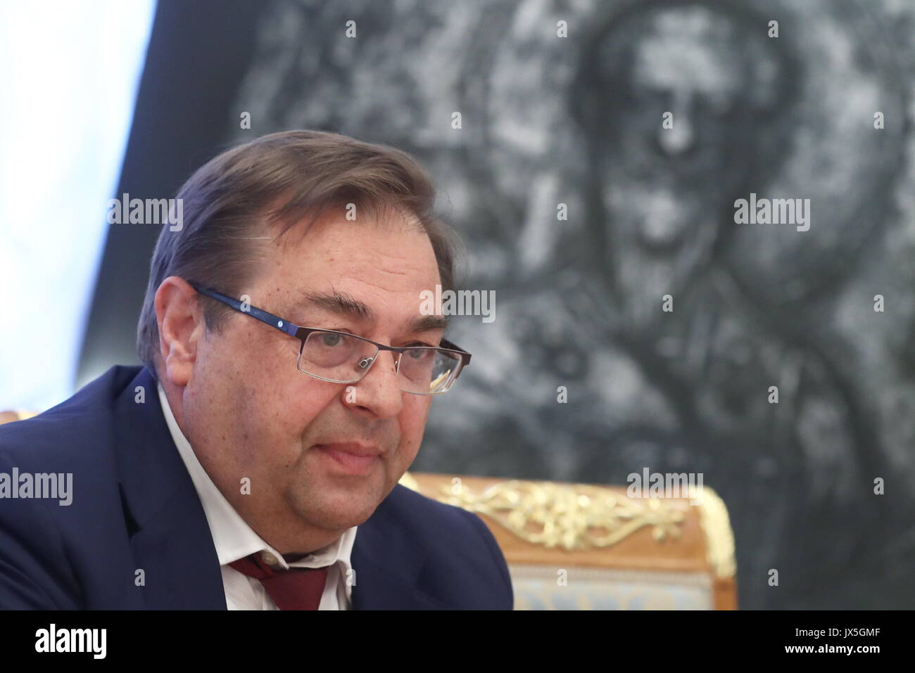 Moscow, Russia. 15th Aug, 2017. Director of the Institute of Russian History of the Russian Academy of Sciences, - Stock Image