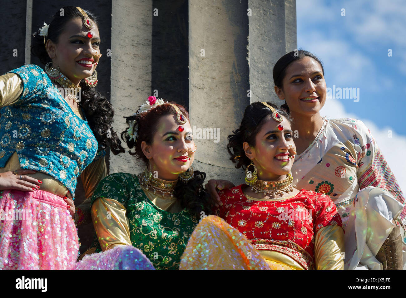 Edinburgh, UK. 15th Aug, 2017. As part of the UK-India Year of Culture 2017 and Indian Independence Day Celebrations Stock Photo