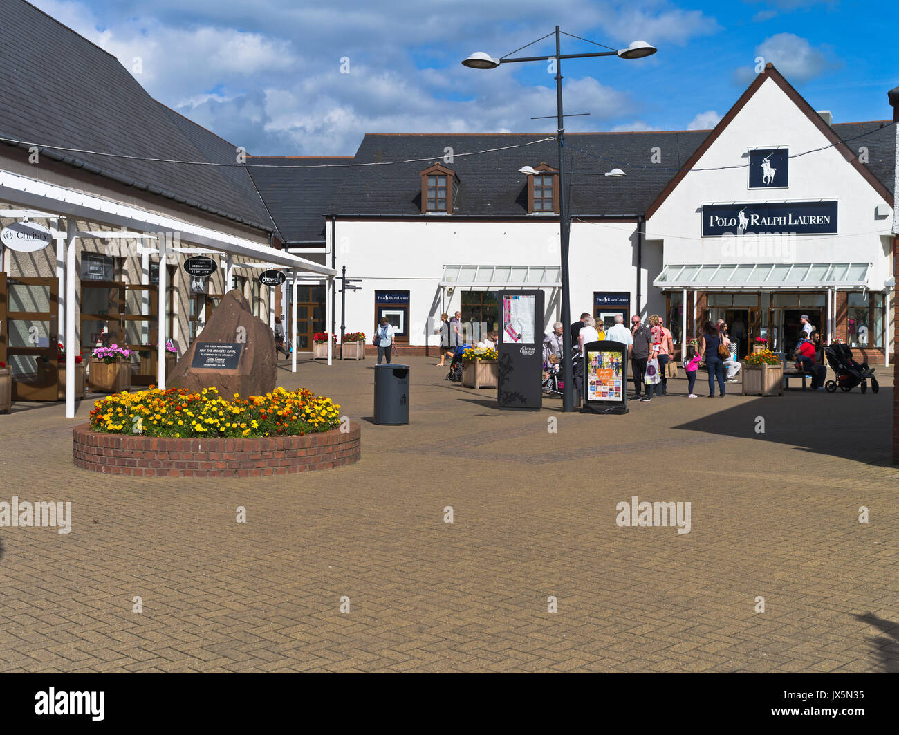 dh Gateway Outlet Village GRETNA GREEN DUMFRIES Polo Ralph Lauren Factory Store mall shops retail outlets shopping arcade - Stock Image