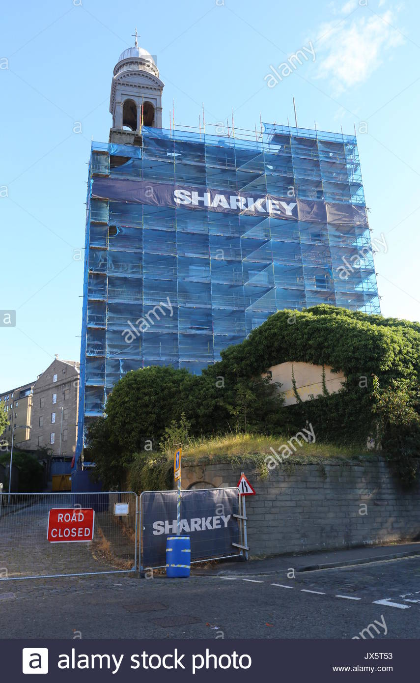 Former Baxter Brothers Mills being refurbished into Indigo hotel Dundee Scotland  August 2017 - Stock Image