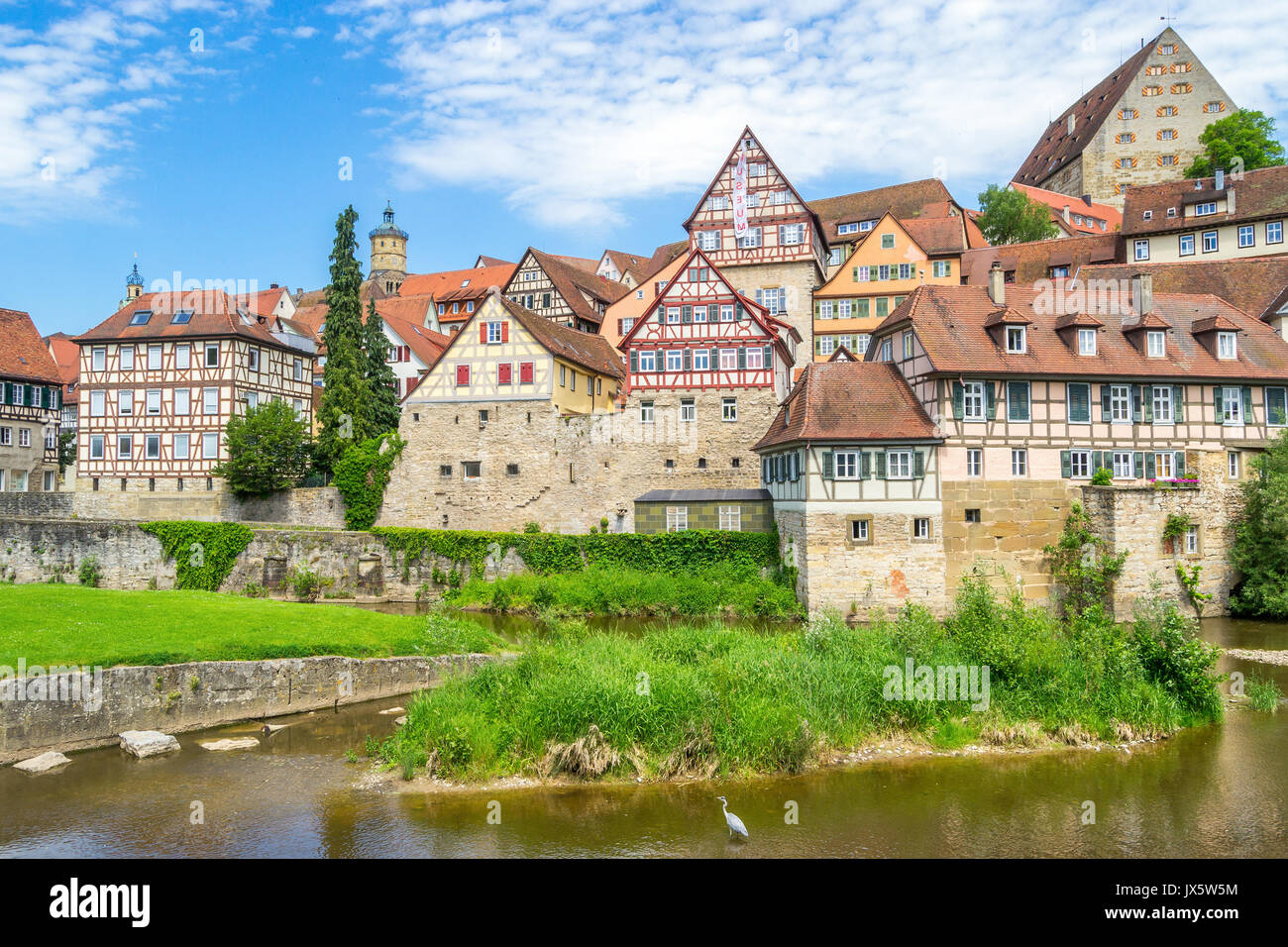 Cityscape of Schwaebisch Hall, Germany - Stock Image
