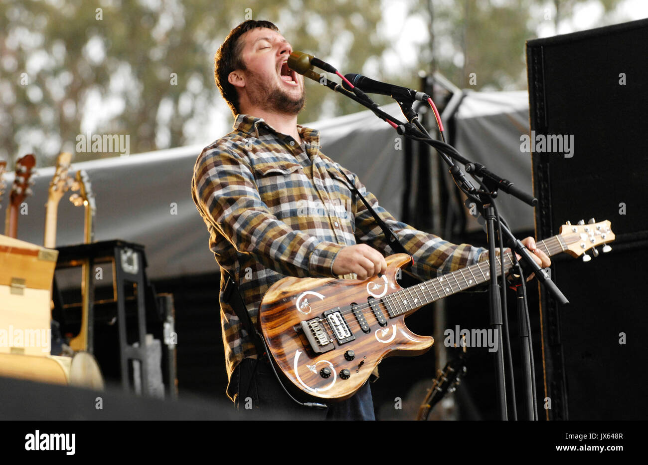 Isaac Brock Modest Mouse performs 2009 Outside Lands Festival Golden Gate Park August 30,2009 San Francisco. - Stock Image